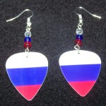 Support and Wear Russian Federation Team Flag Earrings