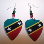 Support and Wear Saint Kitts Team Flag Earrings