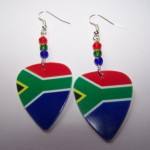 Support and Wear South African Team Flag Earrings