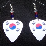Support and Wear South Korean Team Flag Earrings