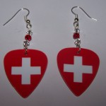 Support and Wear Switzerland Team Flag Earrings