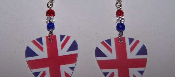 Support your team by wearing handmade flag earrings