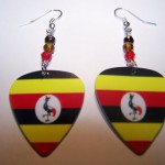 Support and Wear Uganda Team Flag Earrings