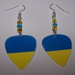 Support and Wear Ukraine Team Flag Earrings