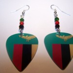 Support and Wear Zambian Team Flag Earrings