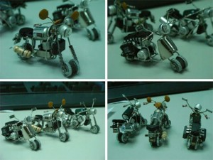 Handcrafted Tiny Motorbike Models - Transistor and Circuit Motorbike Models