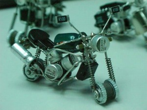 Transistor and Circuit Motorbike Tiny Model