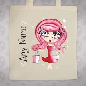 Claireabella Valentines Canvas Bag