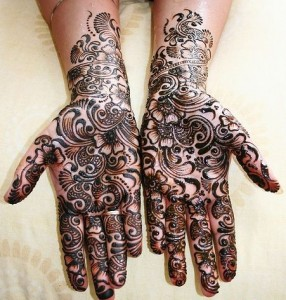 Indian Wedding Mehndi Designs 286x300 Latest Mehndi designs for Eid and Wedding