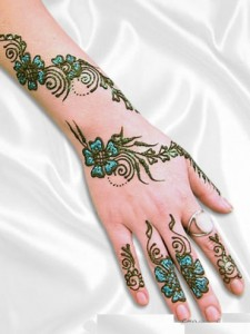 Mehndi Design on Hand and Arm