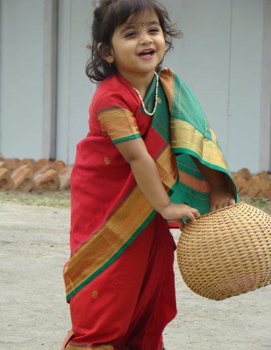 Indian Baby in Saree 232x300 Kids Clothing (Kids Fashion)
