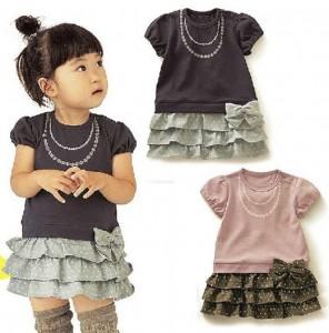 Kid Short Sleeve Dresses