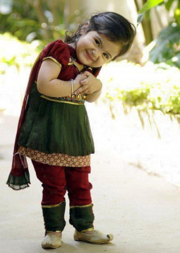 Pakistani Cute Baby Girl in Shalwar Qameez 213x300 Kids Clothing (Kids ...