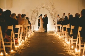 Wedding Aisle Extra Light and Beauty with Candles 300x199 Simple and Effective Wedding Aisle Decorations