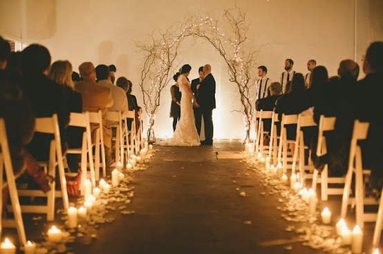 Wedding Aisle Extra Light And Beauty With Candles