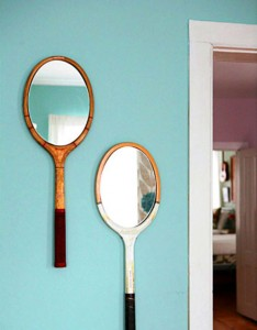 2 Retro Tennis Racket Mirrors 234x300 35 Home DIY Projects That Won't Fail To Inspire You