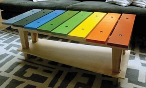 25 Xylophone Table 300x180 35 Home DIY Projects That Won't Fail To Inspire You
