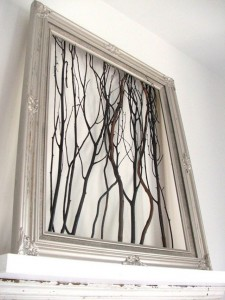 3 Framed Branches 225x300 35 Home DIY Projects That Won't Fail To Inspire You