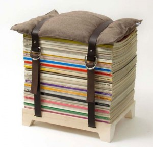 34 Magazine Stool 300x288 35 Home DIY Projects That Won't Fail To Inspire You