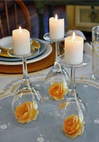 Wedding centerpieces diy ideas latest handmade glass and flower centerpiece junglespirit Image collections