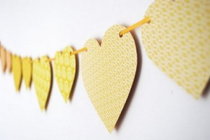 Heart Bunting 300x200 10 Homemade Valentine Day Ideas for Your Other Half