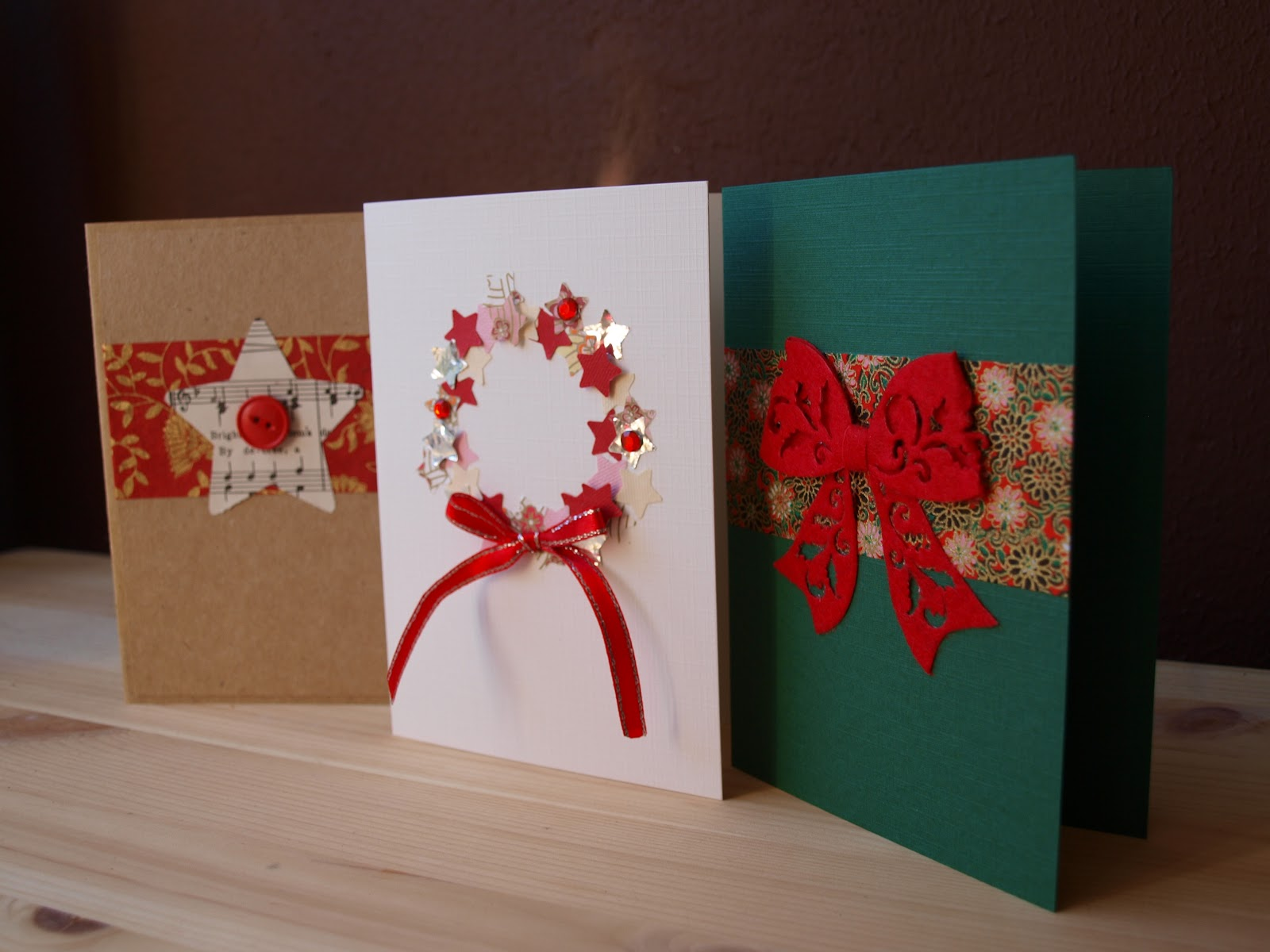 Christmas craft ideas christmas celebration all about christmas to save some money make your own christmas cards by using ribbons cardboard paper m4hsunfo