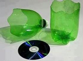 Plastic Bottle and CD