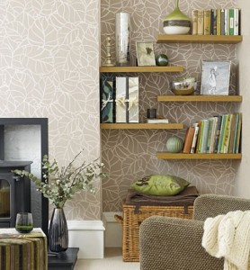 Alcove Shelves 278x300 Organizing Your Home   Interior Designing