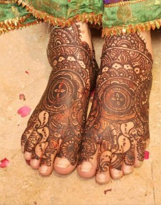 Arabic Feet Mehndi Design for Wedding