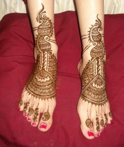 Bridal Feet Henna Designs
