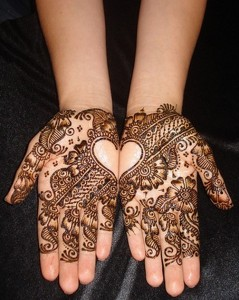 Floral Front hand Mehndi Design