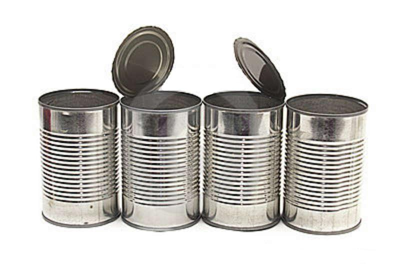 Canned Food With Damaged Labels