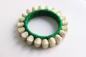 White Beads Bangles - Designer Handmade Bangles