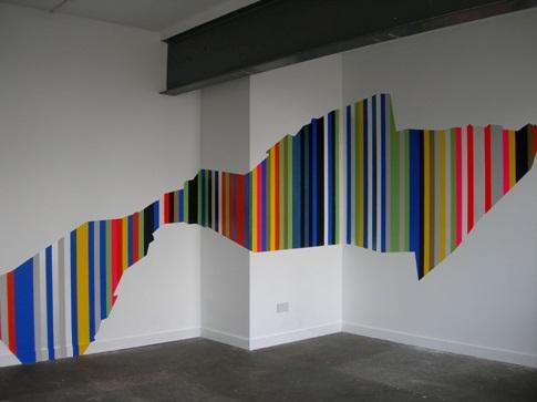 beautiful design using painter tape - Paint Tape Design Ideas