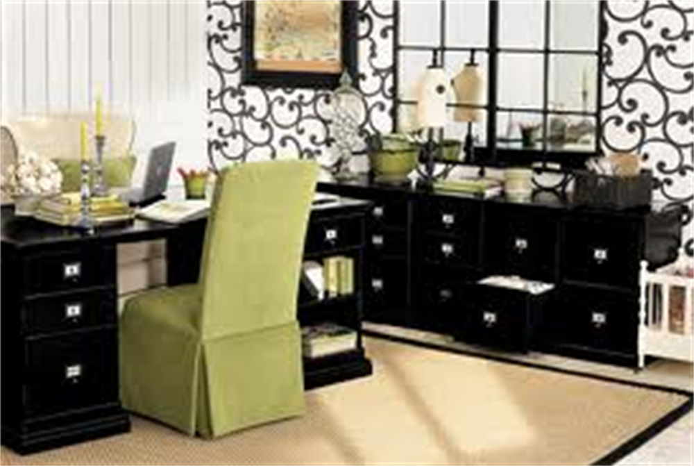 Corner Home Office Setting