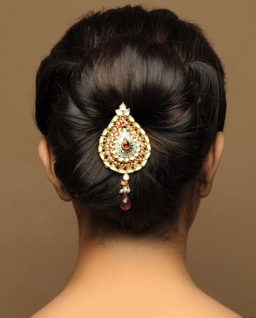French Roll Hair Style Inspiration 5 Hairstyle Ideas For Indian Wedding  Latest Handmade