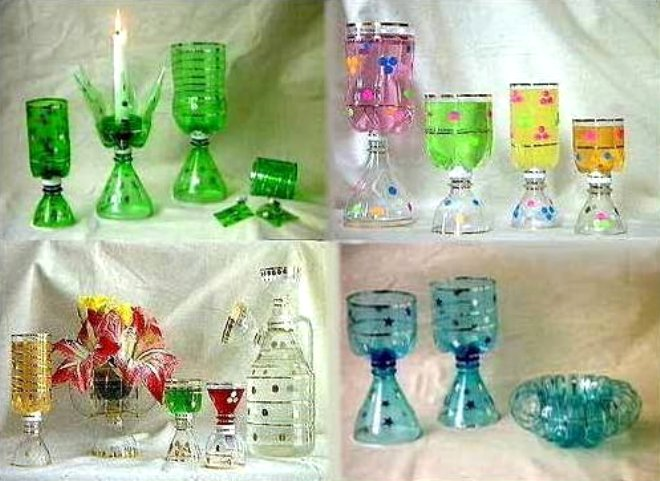 Handmade Things With Plastic Bottles Home Decorating Ideas