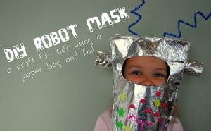 Tin Foil Robot Mask