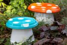 Make your own DIY Garden Mushrooms