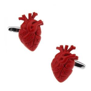 Human Heart Cufflinks