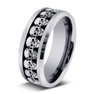Tungsten Engraved Ring